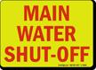 Main Water Shut-Off