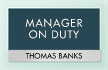 Manager On Duty Sign
