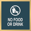 No Food Drink Graphic Sign