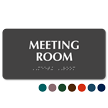 Meeting Room Tactile Touch Braille Sign