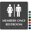 Members Only Restroom Tactile Touch Braille Sign