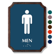 Men Braille TactileTouch Wooden Plaque