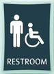 Restroom Men Handicapped Sign