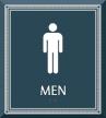 Men Restroom Sign