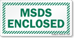 MSDS Enclosed Sign