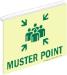 Muster Point Z-Projecting Sign