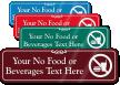 No Food Nor Beverages Symbol Sign