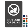 No Food Or Drink ADA TactileTouch™ Braille Sign