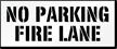 No Parking, Fire Lane Pavement Stencil