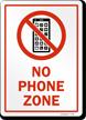 No Cellphone Sign