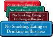 No Smoking, Eating Or Drinking ShowCase Wall Sign