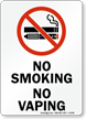 No Smoking No Vaping Sign With Graphic