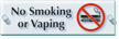 No Smoking Or Vaping ClearBoss Sign