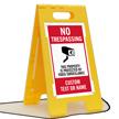 No Trespassing Add Text Name Custom Standing Floor Sign
