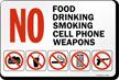 No Food, No Drinking, No Smoking, Sign