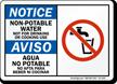 Non Potable Water Bilingual Notice Sign