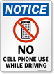 Notice No Cell Phone Sign