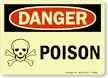 Glowing Poison Danger Sign (with graphic)