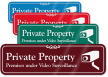 Private Property, Video Surveillance ShowCase™ Wall Sign