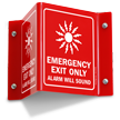 Emergency Exit Only (with graphic)