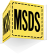 MSDS Striped Border Sign
