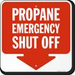 Propane Emergency Shut Off Aluminum Sign
