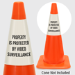 Property Is Protected By Video Surveillance Cone Collar