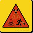 Radiation Waves Dangers, Warning Sign Symbol