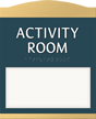Room Name Sign, ¾ in. raised letters braille