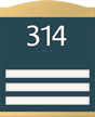 3 Slot Room Sign, raised number braille