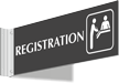 Registration Corridor Projecting Sign