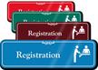 Registration Hospital Showcase Sign