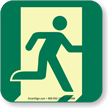 GlowSmart™ Running Man, Emergency Exit Right