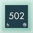 Room Number Sign w/ISA & NS Symbols