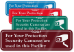 Security Camera with Graphic ShowCase™ Wall Sign