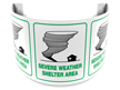 180 Degree Projecting Severe Weather Shelter Area Sign