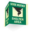 Shelter Area Projecting Sign