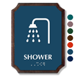 Shower Braille TactileTouch Wooden Plaque
