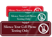 Silence Your Cell Phone Texting Only Sign