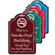 Smoke Free Building ShowCase Sign