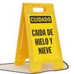 Caida De Hielo Y Nieve Spanish Floor Sign