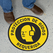 Spanish Proteccion De Oidos Requerida, Slipsafe Floor Sign