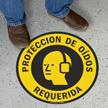 Spanish Proteccion De Oidos Requerida, Slipsafe Floor Sign