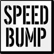 Speed Bump Pavement Stencil
