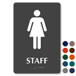 Staff Braille Sign with Female Pictogram