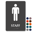 Staff Braille Sign with Male Pictogram