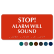 Stop Alarm Will Sound Tactile Touch Braille Sign