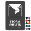 Storm Shelter Emergency TactileTouch Braille Sign