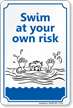 Novelty Pool Sign onmouseover =