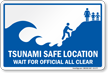 Tsunami Safe Location Sign